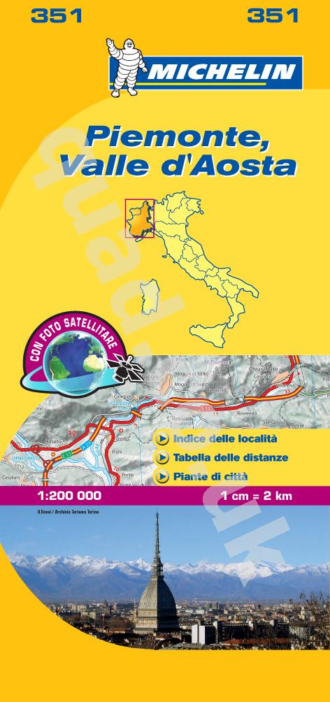 Michelin  Local Map - Piemonte & Vallee Aoste (Italy)