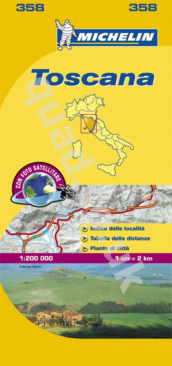Michelin  Local Map - Toscana (Italy)