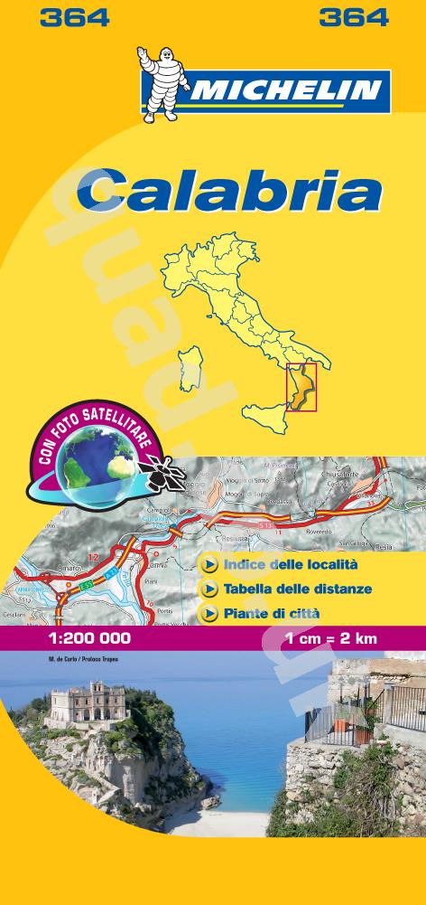 Michelin  Local Map - Calabria (Italy)