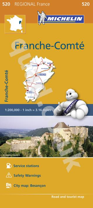 Michelin Regional Map - Franche-Comte