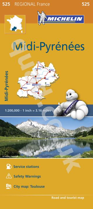 Michelin Regional Map - Midi-Pyrenees