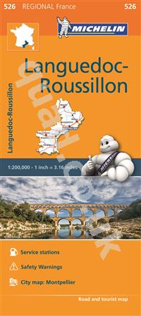 4.99 Languedoc-Roussillon, France, Regional Michelin Road Maps Online