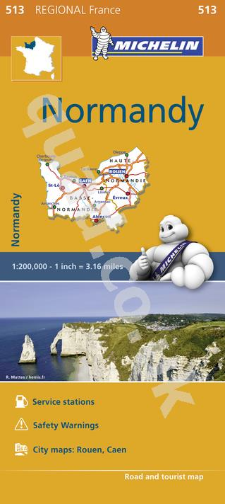 Michelin Regional Map - Normandy