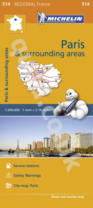 Michelin Regional Map - Ile de France
