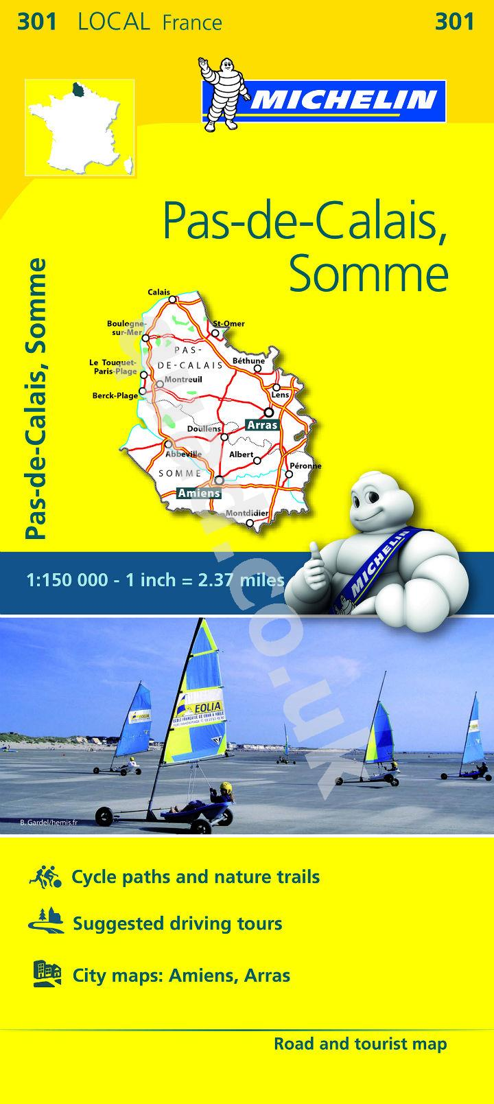 Michelin  Local Map - Pas-de-Calais, Somme (France)