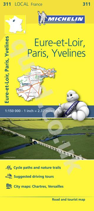 Michelin  Local Map - Eure-et-Loirs, Paris, Yvelines (France)