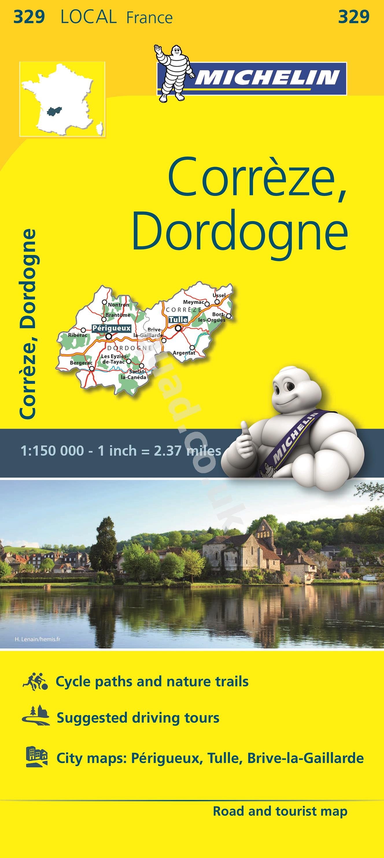 Michelin  Local Map - Correze, Dordogne (France)