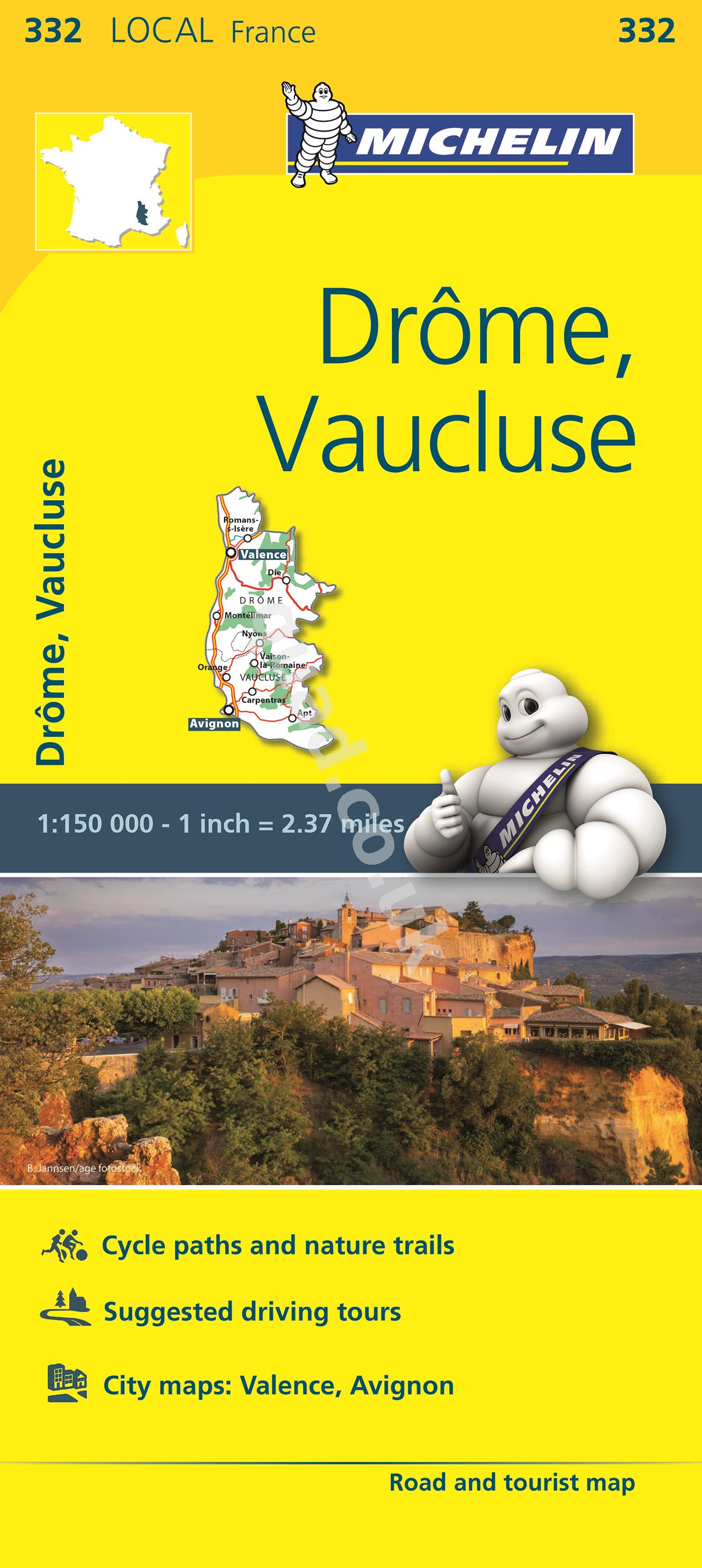 Michelin  Local Map - Drome, Vaucluse (France)