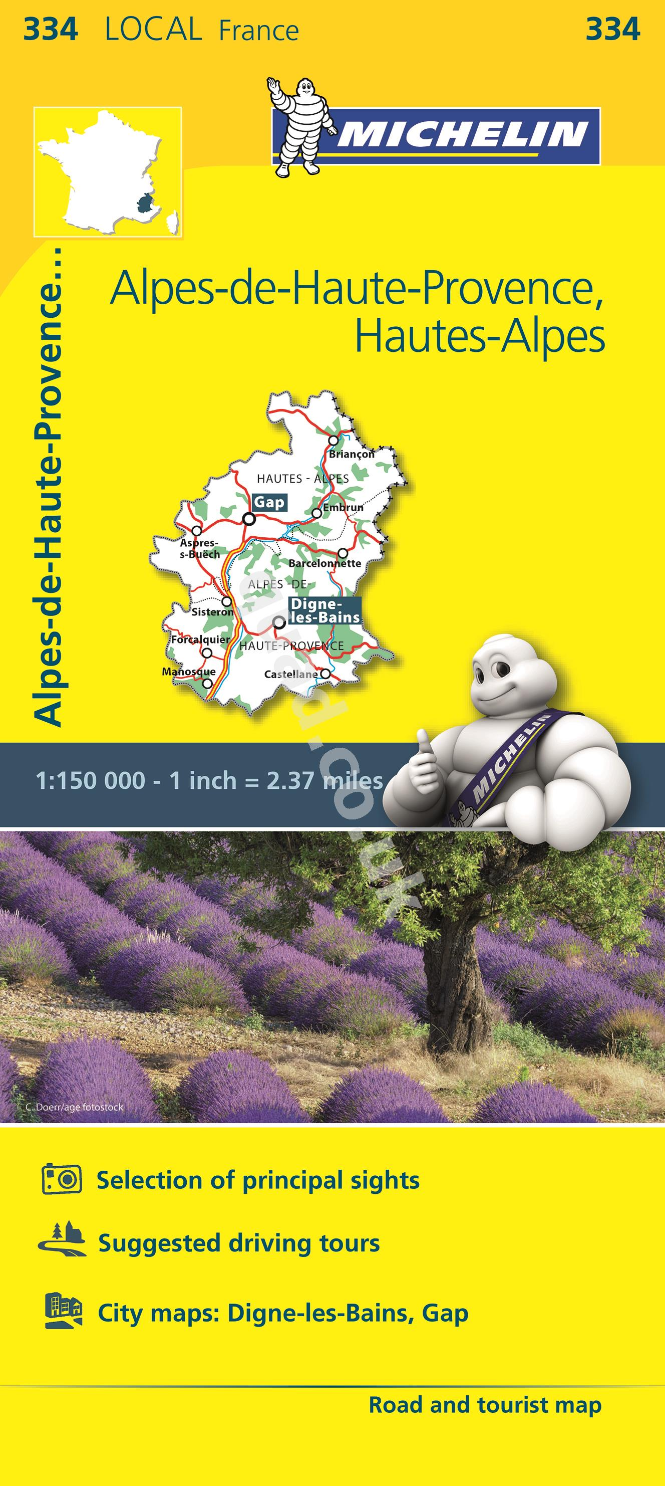 Michelin  Local Map - Alpes-Hautes-Provence, Alpes (France)