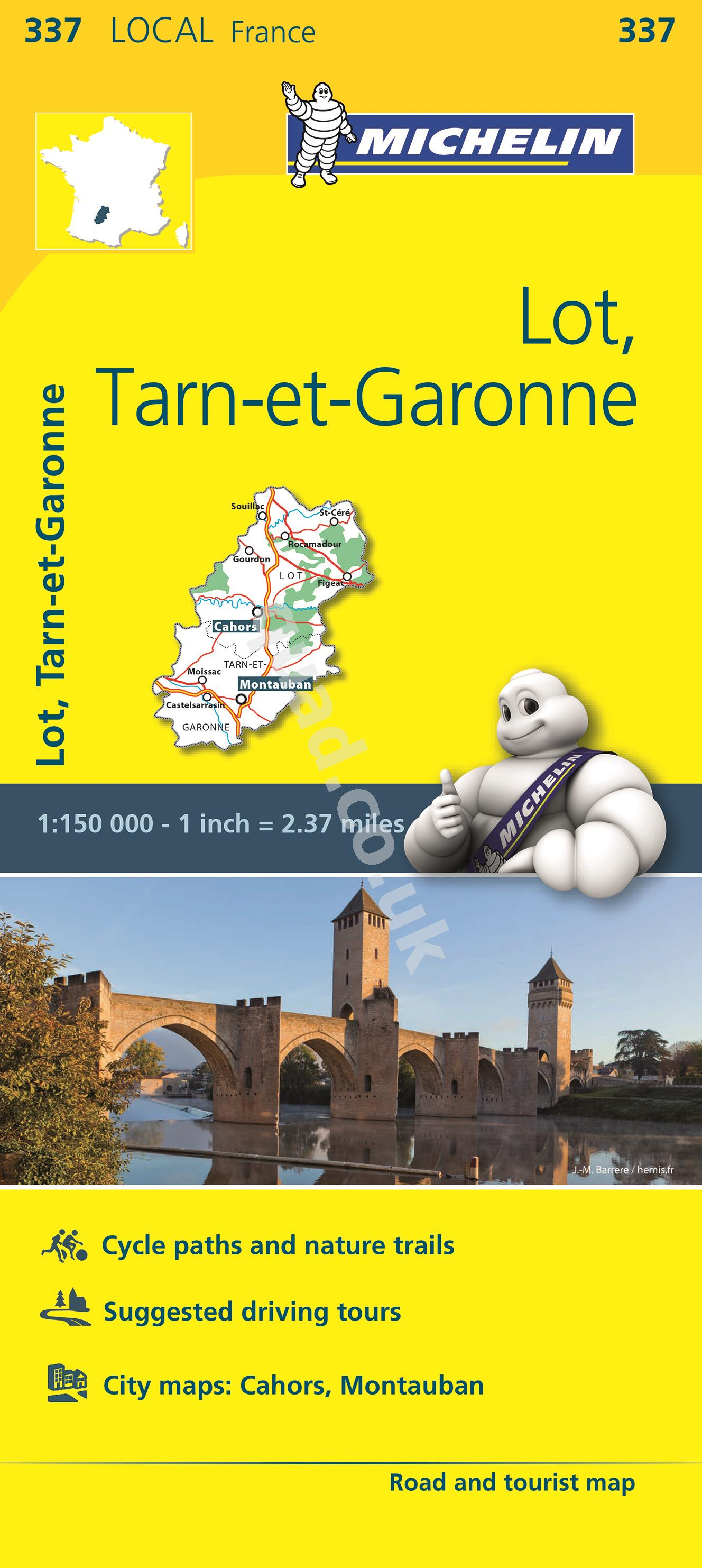 Michelin  Local Map - Lot, Tarn-et-Garonne (France)