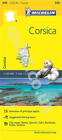 4.99 Corsica, France, Local Michelin Road Maps Online