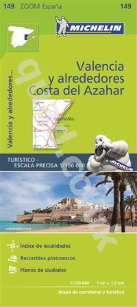 Costa De Azahar Spain Map.4 99 Valencia Costa Del Azahar Spain Zoom Michelin Road Maps Online