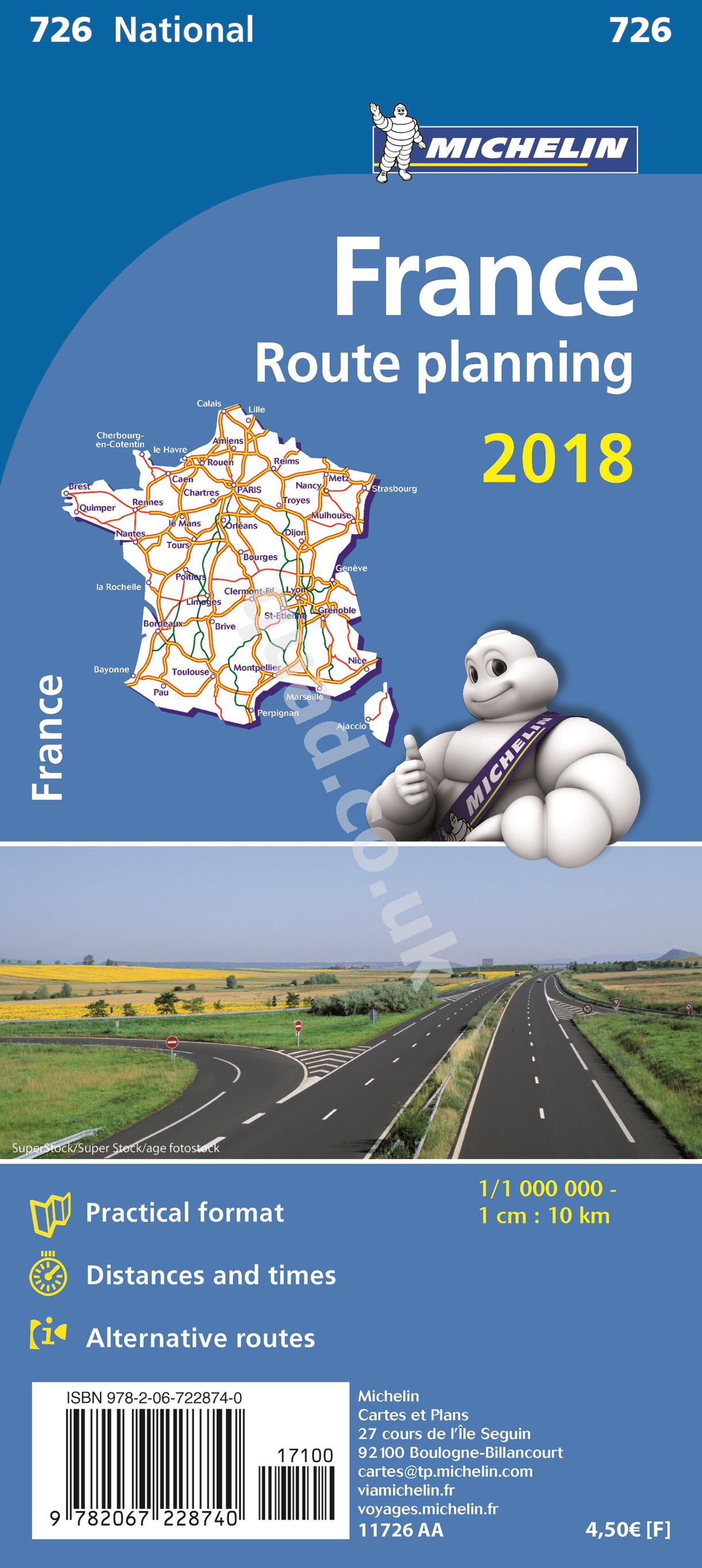 Michelin  National Map - France Route Planning (Europe)